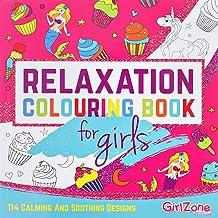 Regalos para Niñas -Libro Para Colorear-114 Hermosos Diseños Zen, Libros Colorear Niños, Libreta De Colorear Relajante Para Niñas, Colouring Book, 3 a 12 Años