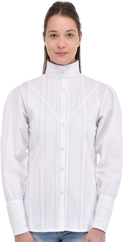 Cotton Lane White Baltimore Mall Same day shipping Long Blouse Sleeve