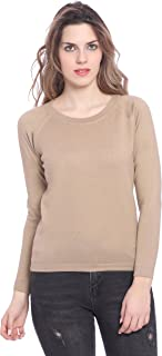 GODFREY Women Raglan Full Sleeve Woolen Sweater
