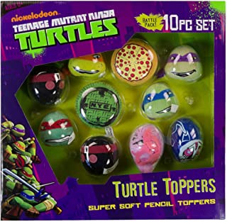 Teenage Mutant Ninja Turtles 10-Piece Super Soft Pencil Toppers Gift Set