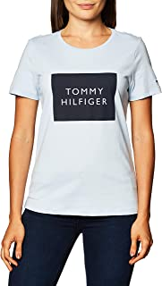 Tommy Hilfiger Women's Regular Tommy Box C-nk Tee Ss Baby and Toddler Tank Top