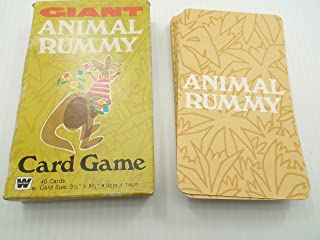 Whitman Giant Animal Rummy Card Game 4844-20 Complete 40 Cards 1981 Vintage