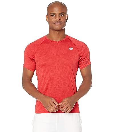 New Balance Impact Run Mesh Short Sleeve (Red Heather) Men