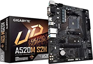 Gigabyte AMD A520 S2H AM4 Micro ATX Motherboard