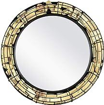 MCS Industries MCS BarNone 18 Inch Round Metal Cork Display Mirror, Black