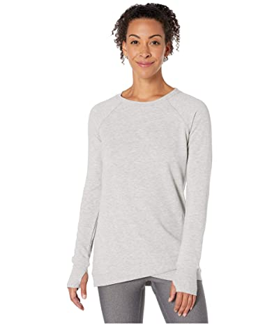 Jockey Active R R Crisscross Fleece Tunic (Light Heather Grey) Women