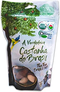 Raw Brazil Nuts - (4.4oz - 125g) - Sustainable Harvesting, Certified Organic, Handpicked, Fresh, Whole, Jumbo Size, Unsalt...