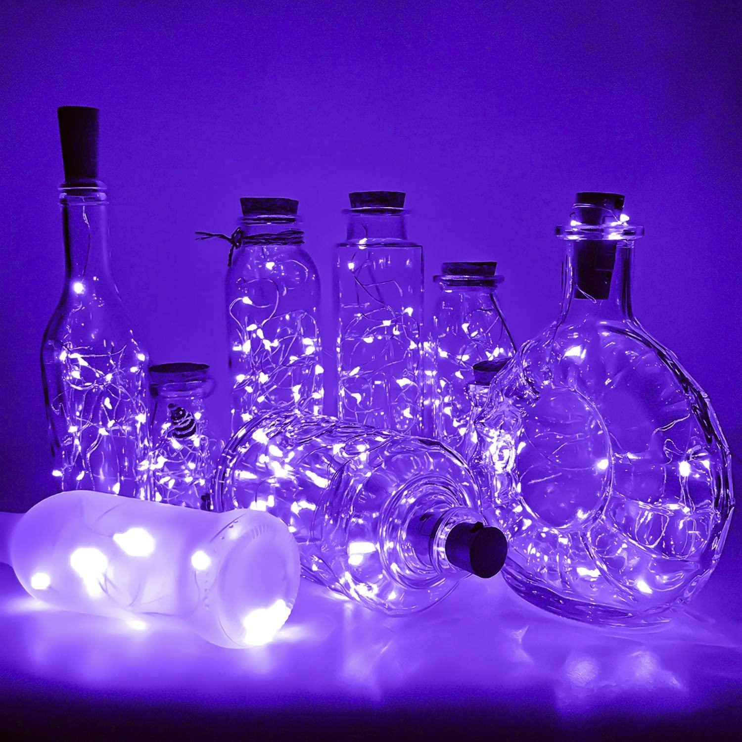 PheiLa 10 Pack Limited time cheap sale Wine Bottle Lights with Christmas Cork Omaha Mall Bat