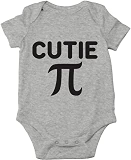 AW Fashions Cutie Pie - Math Parody Cute Novelty Funny Infant One-Piece Baby Bodysuit