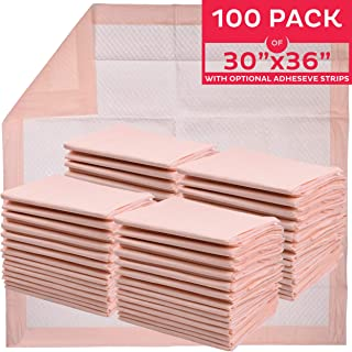 "Premium Disposable Underpads 30""x36"" (Packed 4x25 Case) Ultra Absorbent Chux Incontinence Bed Pads, Pet Training Pads X-Large 100/Case"