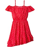 Spot Shirred Dress (Big Kids)