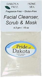Dakota Free Facial Cleanser, Scrub and Mask 4.5 gm Single Packet