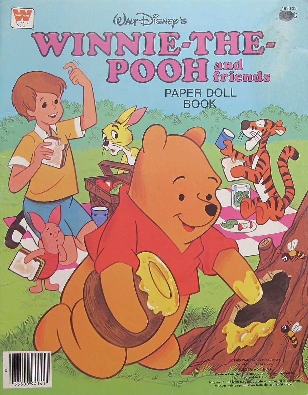 Walt Disney Winnie The Pooh and Friends Paper Doll Book (Uncut)