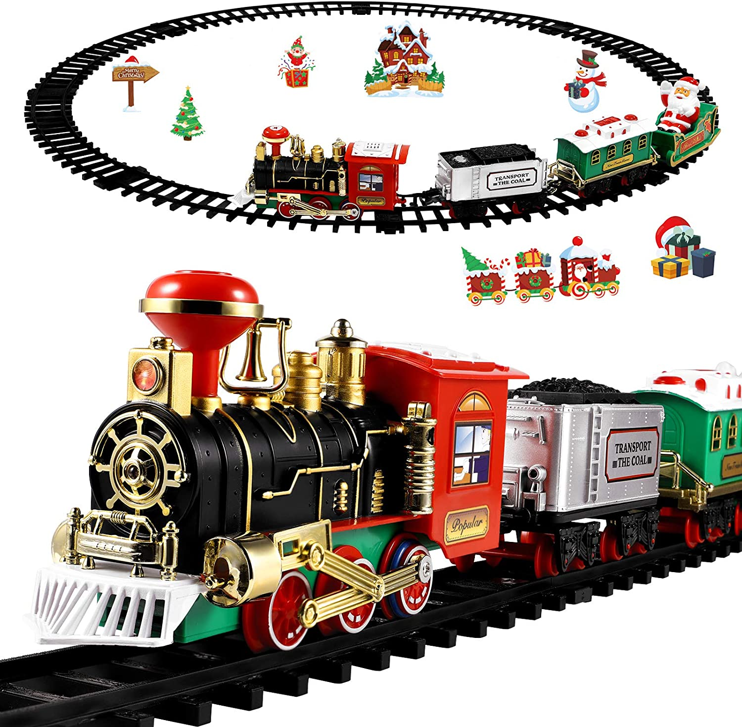 Toyvian Christmas Railway Train Set with Track It is very popular 47.2