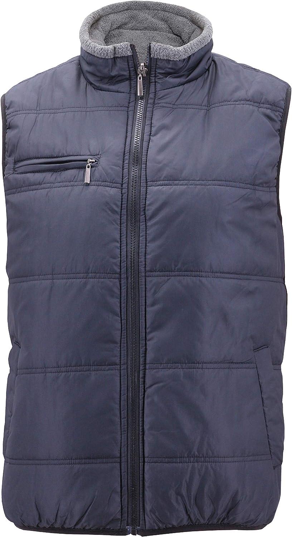 Maximos Men's Reversible Sherpa Fleece Lined Zipper Quilted Puffer Utility Vest