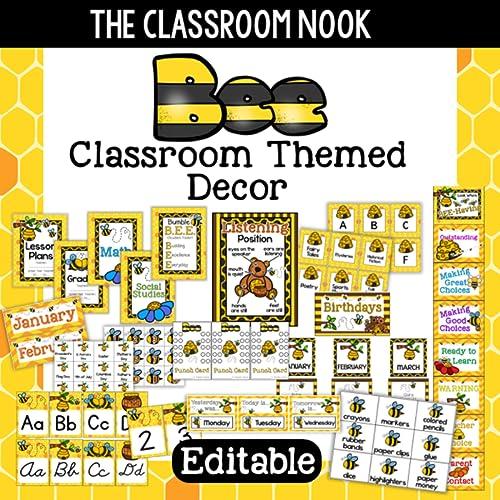 Bee Themed Classroom Decor (Printable & Editable)