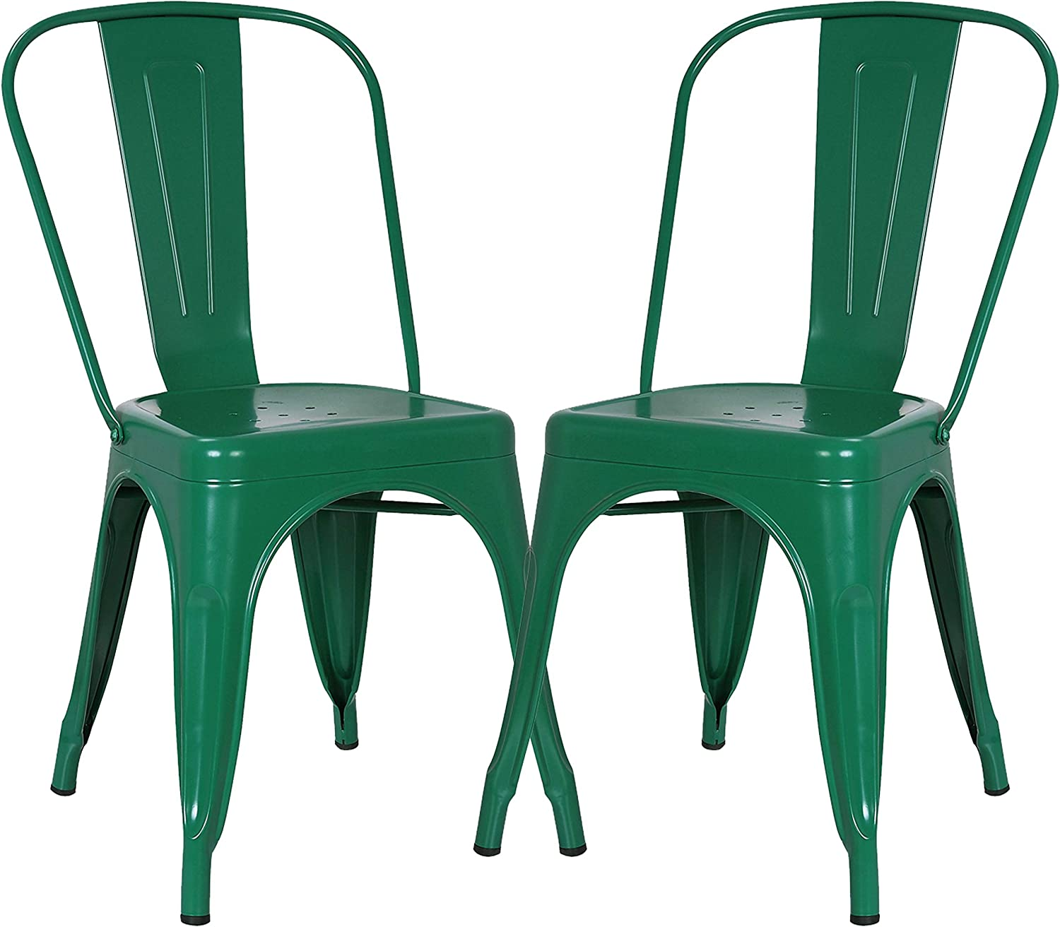 Poly and Bark Trattoria Side Chair in Dark Green (Set of 2)