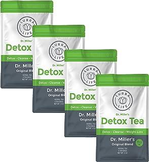 Lurra Life Dr. Miller's Detox Tea | Original Blend | for Detox, Natural Cleansing, and Weight Loss (4 Packs - 8 Tea Bags)