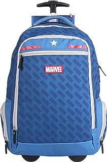 Mala Escolar GL com Rodinhas, DMW Bags, Marvel Universe Capitão América, 11476