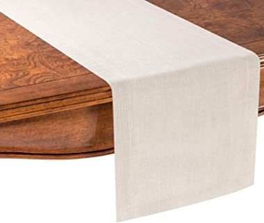 PROVIMO HOME Hemmed Table Runners (14 x 90 Inch, Natural)