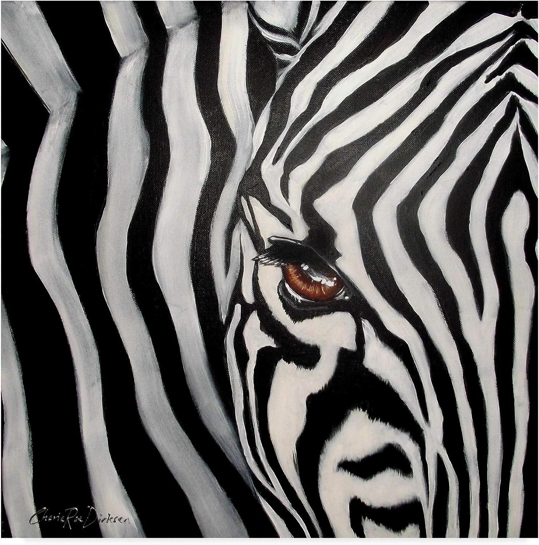 Trademark Fine Art Zebra Face by Cherie Roe Dirksen, 14x14 Fine Art, Multicolor