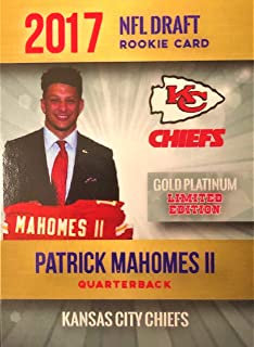 2017 PATRICK MAHOMES Rookie Card - NFL Draft Rookie Football Card - Chiefs - Limited to 2000!