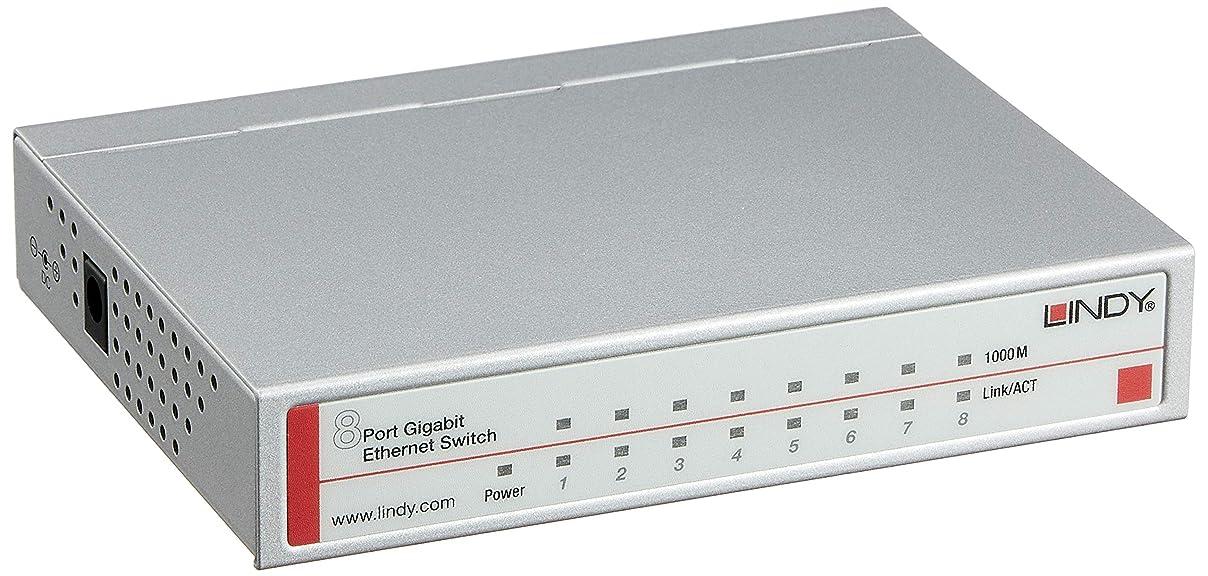 警察署ハブブジャーナリストLINDY ネットワークスイッチ - ギガビット デスクトップ 8ポート 10/100/1000Base(型番:25045)