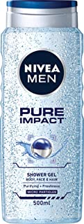 NIVEA MEN Pure Impact Shower Gel, 500ml