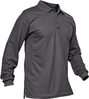 MAGCOMSEN Men's Outdoor Performance Long and Short Sleeve Tactical Polo Shirt Pique Jersey Golf Polo Shirt