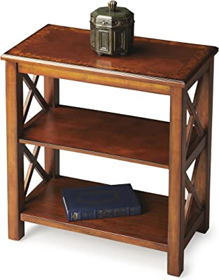 Butler Specialty Company Bookcase, Olive Ash Burl