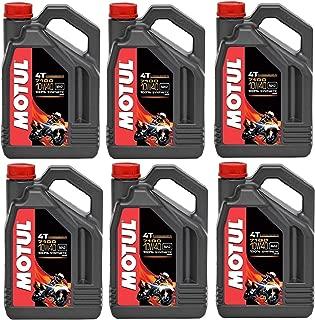 Motul 104092 Set of 6 7100 4T 10W-40 Motor Oil 1-Gallon Bottles
