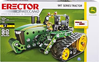 MECCANO Erector, John Deere 9RT Series Tractor Building Set, Stem Engineering Education Toy for Ages 10 & Up