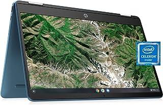 ノートパソコン HP X360 14a Chromebook 14インチ HD タッチスクリーン、あらゆる角度でエンターテイメント、4GB DDR4 64GB eMMC WiFi ウェブカメラ ステレオスピーカー Bluetooth 4.2 ク...