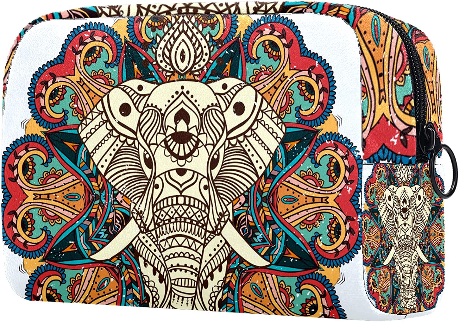 Cosmetic Bag for Women Roomy Makeup Indian Bags flower Albuquerque Mall elephant Special Campaign
