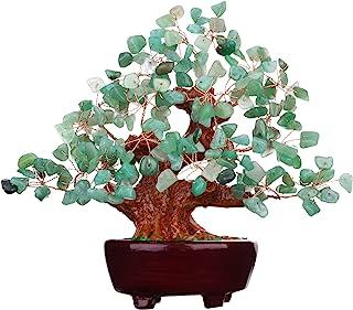 Parma77 7 Inch Feng Shui Aventurine Quartz Gem Stone Money Tree Natural Green Crystal Art Decoration Office Living Room Good Luck