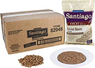 Santiago Smooth Refried Beans – 29.77 oz. pouch, 6 pouches per case