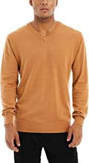 MAGCOMSEN Men's Pullover Sweaters Long Sleeve Cotton V-Neck Thin Sweatshirt