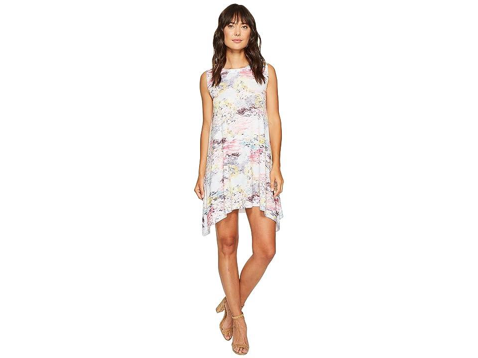 Nally & Millie Hand Paint Print Dress (Multi) Women
