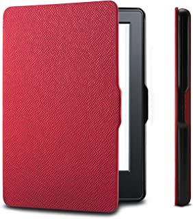 Amazon Kindle Paperwhite Case is the lightest and most advanced leather smart case for all versions before 2017 (not for all Paperwhite 10th generation 2018), Kindle with purple wake/sleep function (Pink)