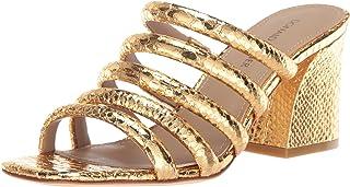 Donald J Pliner Women's WES Heeled Sandal, Gold, 6 Medium US
