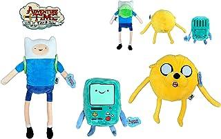 ATAT-1 Hora Aventura (Adventure Time) - Pack de 3 Peluches Finn (niño 45cm) + Jake (Perro Amarillo 30cm) y Beemo (22cm). Calidad Super Soft
