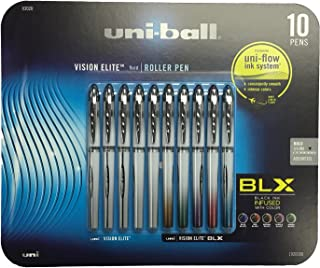 Uni-Ball Vision Elite Stick Rollerball Pens, 0.8mm, Bold Point, Assorted Colors, 10-Count