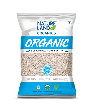Natureland Organics Urad Dal/Split Washed Pouch, 1 kg