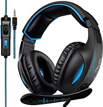 SADES Gaming Headset for PS4, Xbox One, PC 7.1 Channel Virtual Surround Stereo Wired Over Ear Gaming Headphones with Mic R...