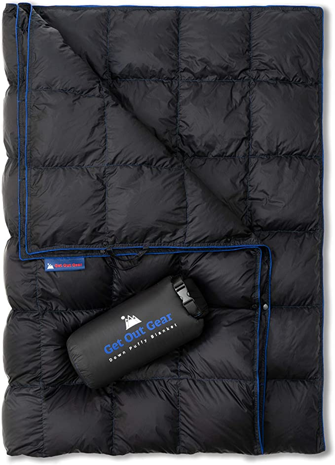 Get Out Gear Down Camping Blanket - Best Insulation