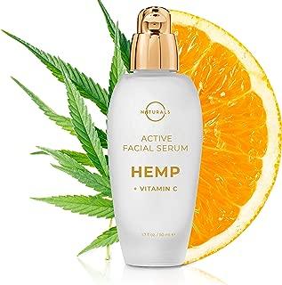 O Naturals Vitamin C Hyaluronic Acid Gel Serum for Face. Spot Corrector Anti Aging Organic Hydrating Hemp Oil Moisturizer for Face & Eyes Repairs Wrinkles Acne Dark Circles Sun Damage Non Greasy 1.7oz
