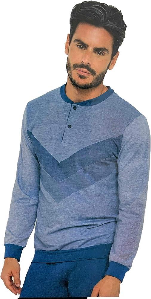 Enrico coveri, pigiama per uomo in  cotone