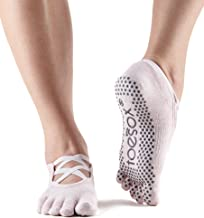 ToeSox Grip Pilates Barre Socks – Non Slip Elle Full Toe for Yoga & Ballet