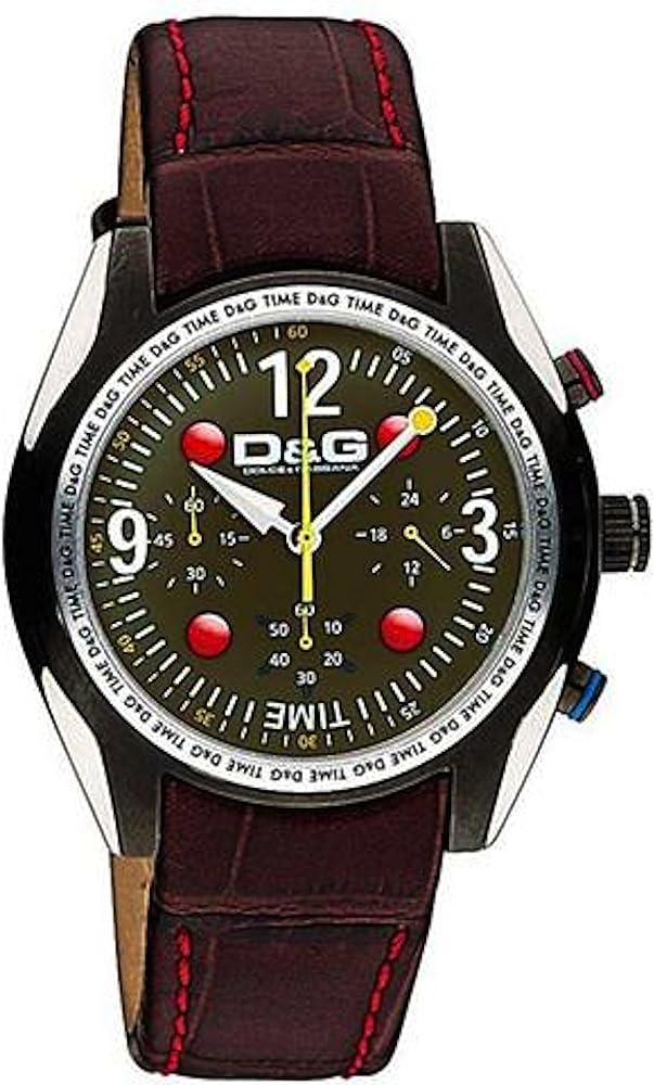 Dolce&gabbana,orologio,cronografo da uomo,con cinturino in pelle e cassa in acciaio DW0312