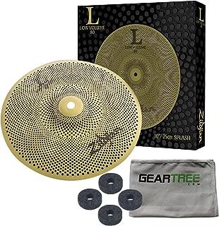Zildjian L80 Low Volume 10 Inch Splash Cymbal w/Geartree Cloth and Cymbal Felts
